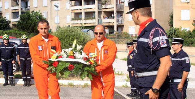 """Pompiers de Balagne : Hommage à l'équipage du """"Pélican 36"""" mort en 2005 mort sur les hauteurs de Calvi"""