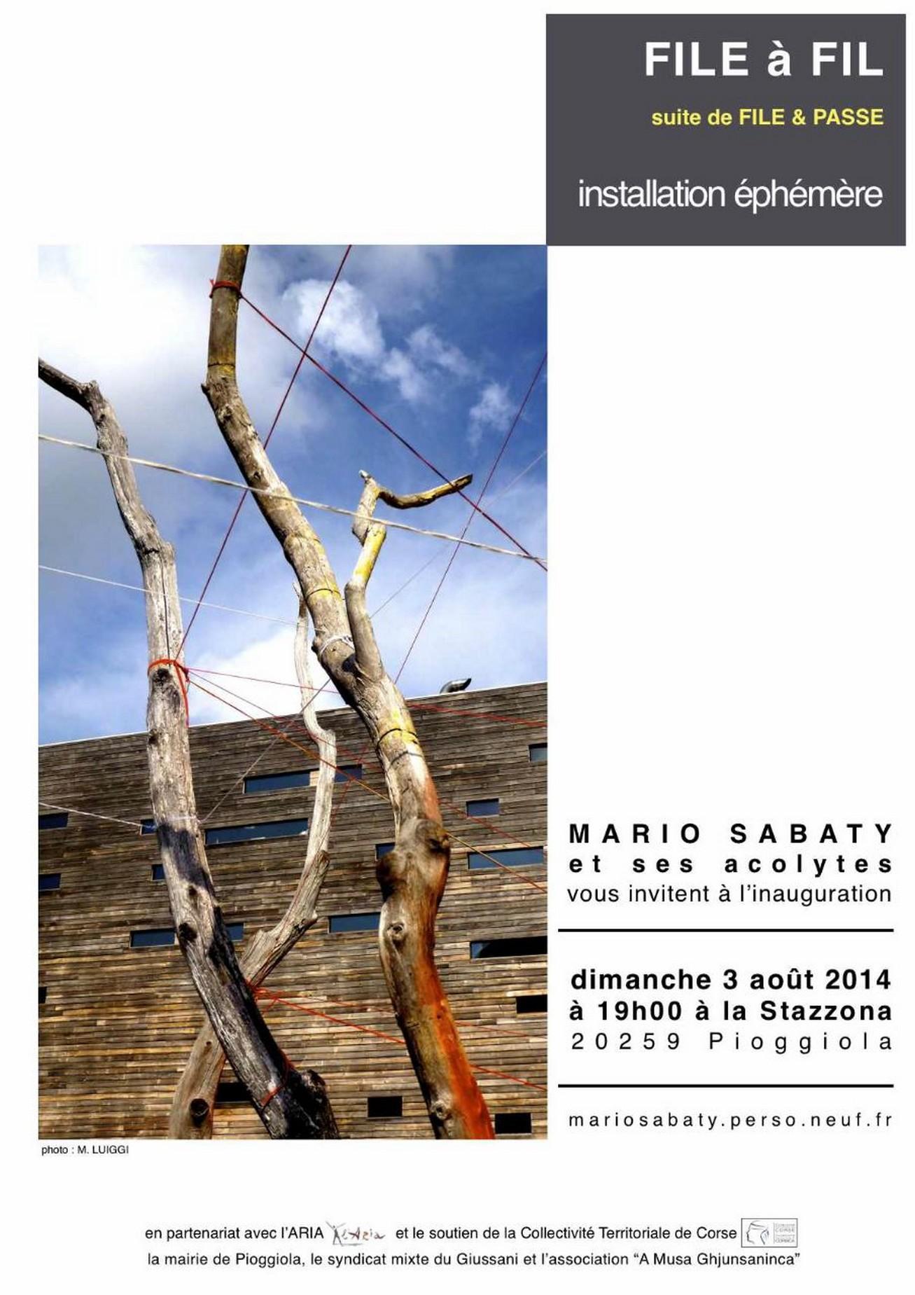 Poggiola : L'installation éphémère par Mario Sabaty et ses acolytes
