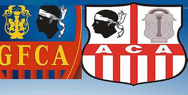Amicales des « anciens » du GFCA et de l'ACA avant le derby :  Forza Aiacciu !