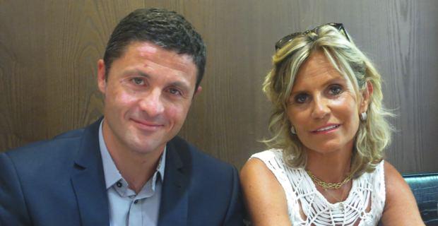 Jean-Félix Acquaviva, maire de Lozzi, membre de Femu a Corsica, candidat aux élections sénatoriales du 28 septembre prochain, et sa suppléante, Monique Maymard, conseillère municipale de la majorité bastiaise, issue de la liste d'Inseme per Bastia.
