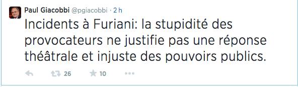 """""""Incidents"""" autour de Furiani : Une affaire d'Etat !"""