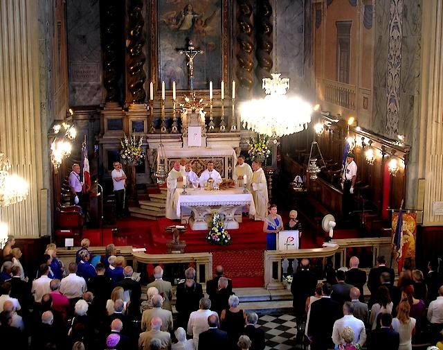 Dès le matin, la Cathédrale d'Ajaccio était pleine à craquer à l'occasion de la grand-messe célébrée par l'Evêque. (Photo : Yannis-Christophe Garcia)