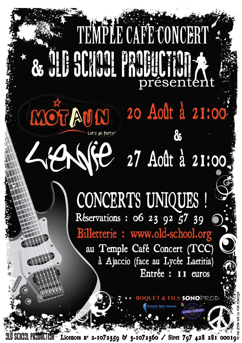 """""""Motaun"""" et """"L'Envie"""" au Temple Café-Concert"""