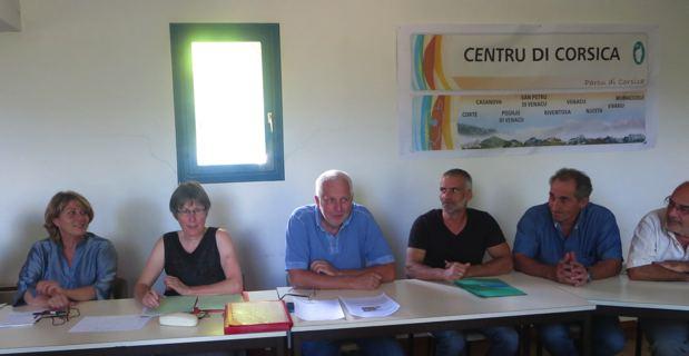 Elus de Femu a Corsica et socio-professionnels.