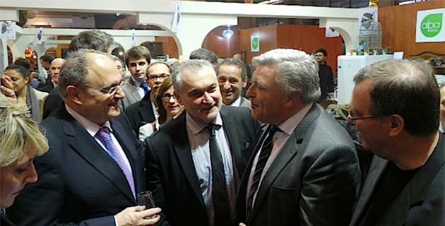 Frédéric Cuvillier lors d'une récente rencontre avec Paul Giacobbi et Gérard Romiti, président du comité régional des pêches