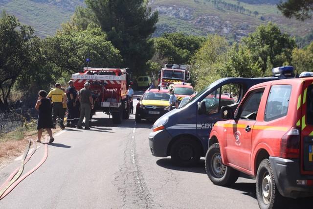 La route Départementale de Calenzana bloquée