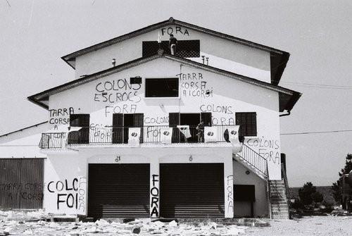 La cave Depeille à Aleria après l'opération. Photo Gérard Koch.