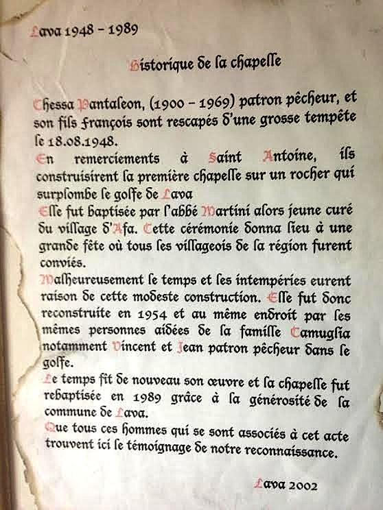Lava : La communauté honore son oratoire dédié Saint Antoine de Padoue