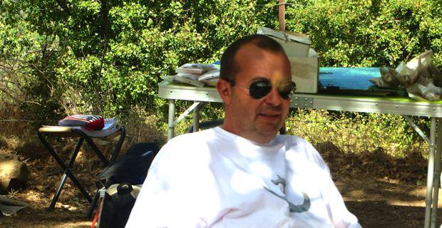 Ghjuvan-Filippu Antolini, archéologue, membre de l'APAUC (Association pour l'archéologie à  l'université de Corse) et responsable du chantier de fouilles.