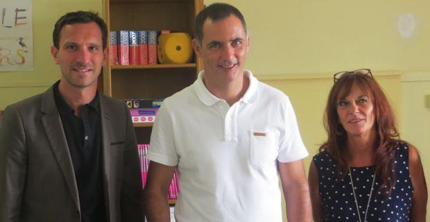 Julien Morganti, Gilles Simeoni et Ivana Polisini.
