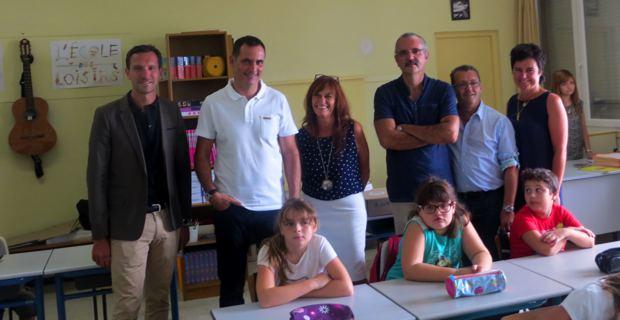 Dans une classe de l'école primaire bilingue Campanari.