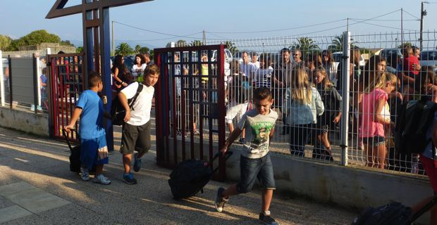 L'école primaire et maternelle de Taglio-Isolaccio.