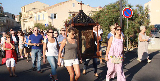 Procession, messe et veillée en ouverture du pèlerinage de Notre-Dame de la Serra à Calvi