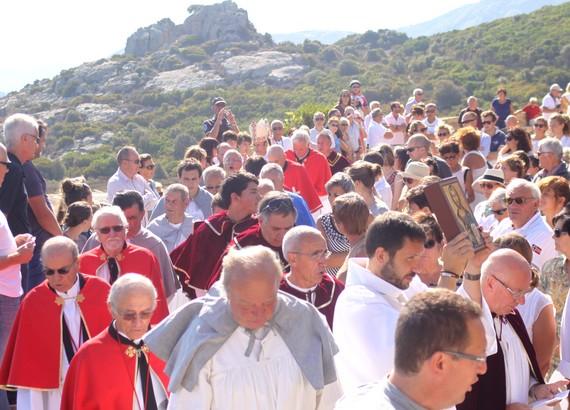 Mgr Olivier de Germay a présidé à Calvi les cérémonies di a Madonna di a Sarra
