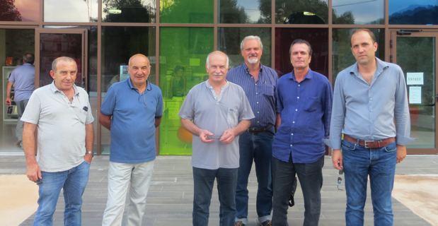 Maires corses et partenaires du projet Itinéraire des patrimoines accessibles.