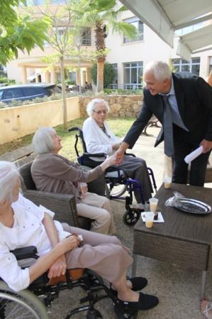 Le directeur de l'ARS en visite à l'Ehpad Sainte-Cécile à Ajaccio