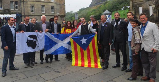 Les délégations nationalistes corses, catalanes...