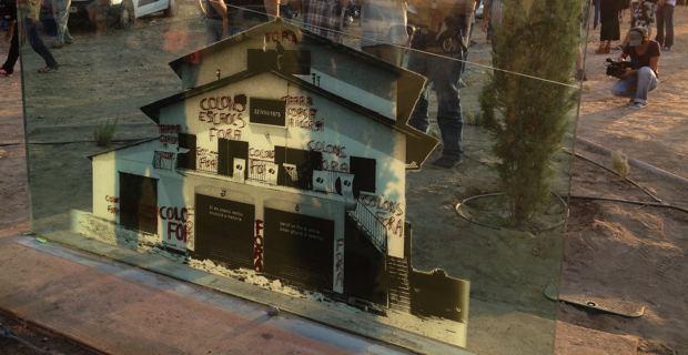 """""""Aleria 1975"""" : La stèle commémorative détériorée"""