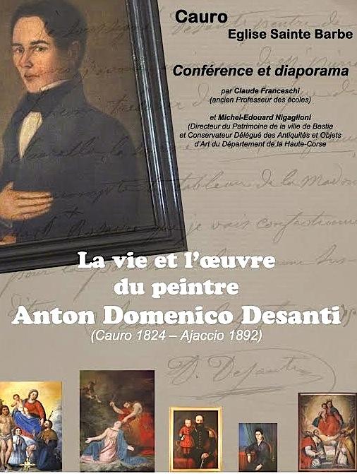 Cauro : Conférence et diaporama sur la vie et l'œuvre de Anton Domenico Desanti