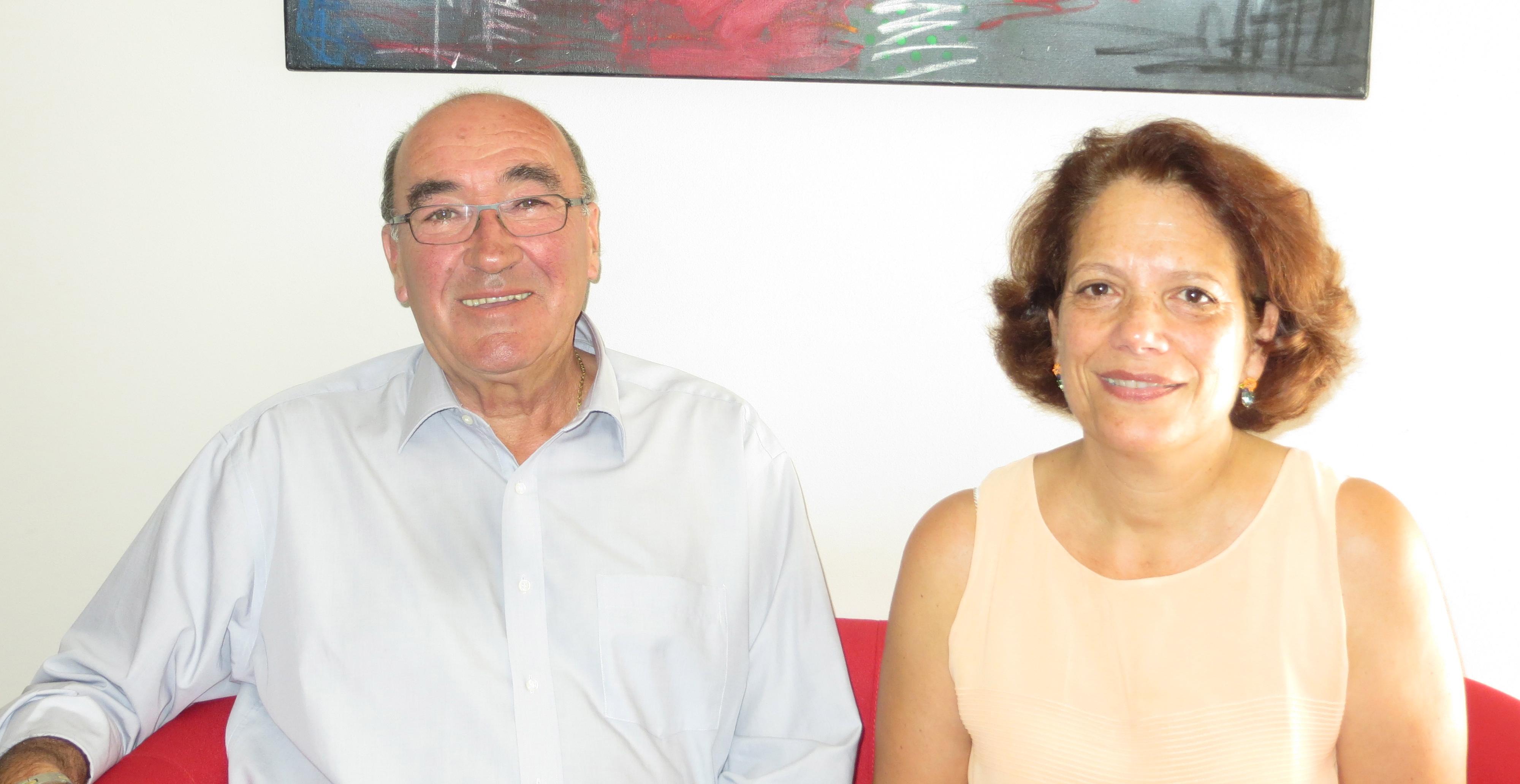 Joseph Castelli, président du Conseil général de Haute-Corse, et Stella Pieri, maire de Rapaggio, sa suppléante.