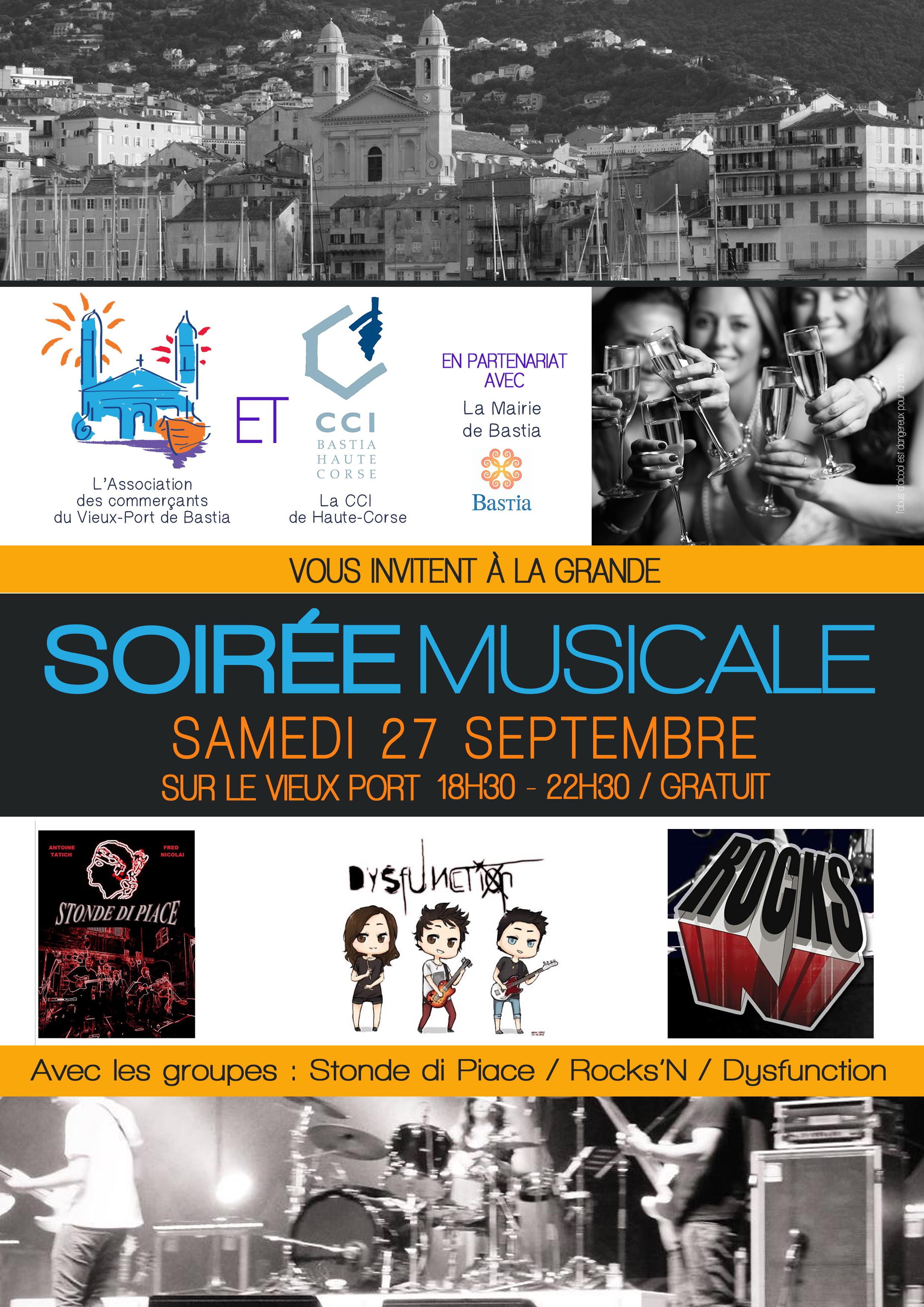 Bastia : Soirée musicale sur le Vieux-Port