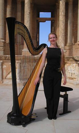 Ajaccio : Concert à Saint-Roch de Claire Galo-Place, harpiste concertiste