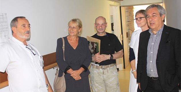 Anne Ballereau a rencontré le maire de Calvi avant sa première visite sur le terrain