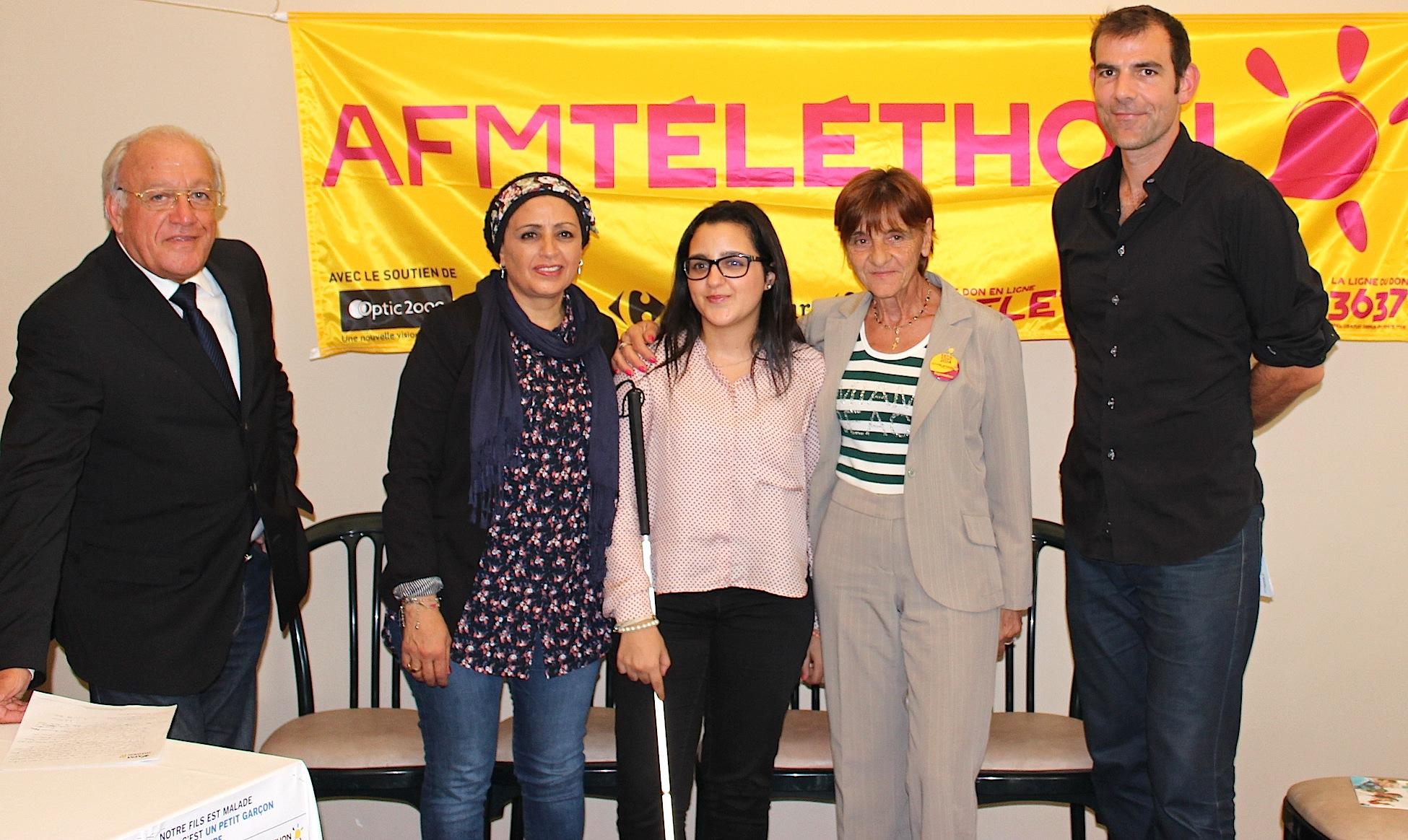 Mouna et la coordination AFM lancent le téléthon en Haute-Corse