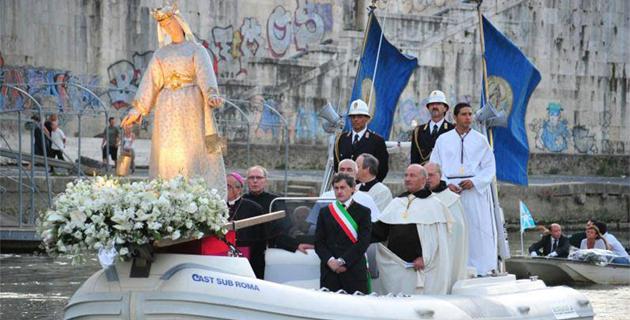 La statue de la Madonna fiumarola découverte par des pêcheurs corses en 1543