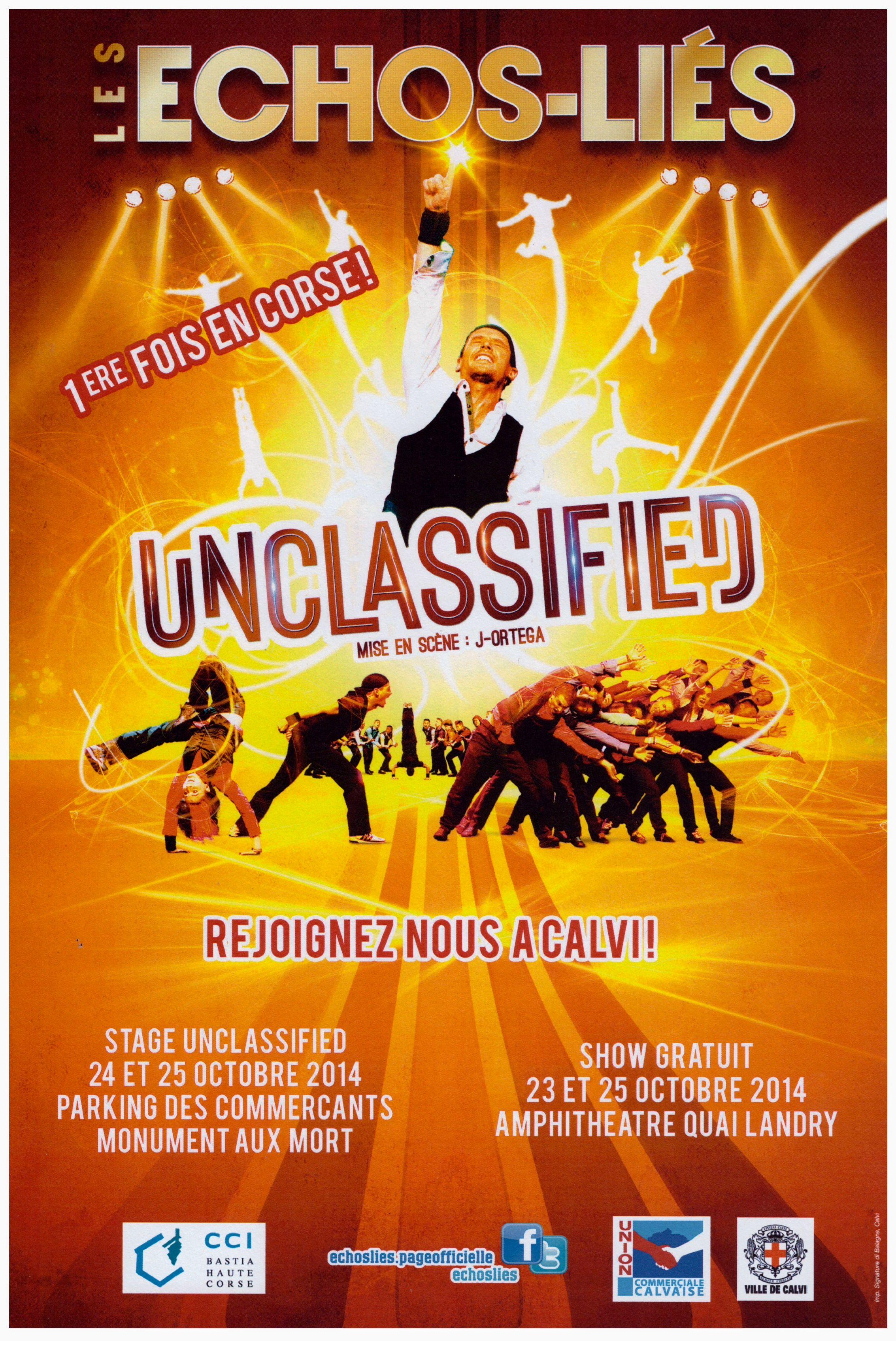 """""""Unclassified"""" pour la première fois les 23 et 25 octobre à l'amphithéâtre de Calvi"""