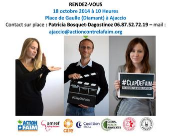 La fin de la Faim... Mobilisation autour de l'opération #ClapDeFaim pour la journée Mondiale de l'Alimentation