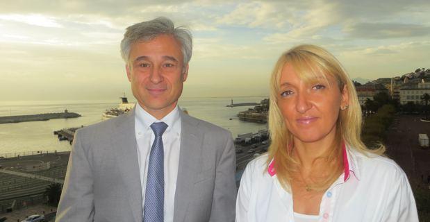 Pierre-Emmanuel Leclerc, nouveau rapporteur régional de la DG Régio à la Commission européenne, et Emmanuelle de Gentili, conseillère exécutive en charge des affaires européennes et 1ere adjointe à la mairie de Bastia.