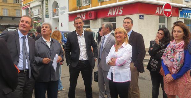 Visite sur site dans les rues de Bastia.