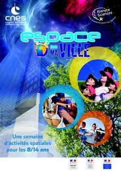 """Ajaccio: """"Espace dans ma ville"""" du 27 au 31 octobre"""