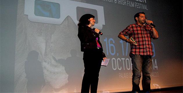 """Le réalisateur Nikolaus Roche-Kresse a présenté son court-métrage """"L'automne de Zao"""" au public Ajaccien. (Photo : Yannis-Christophe Garcia)"""