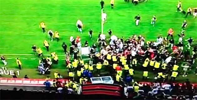 Nice-Sporting : Incidents sur la pelouse. Regardez les vidéos !