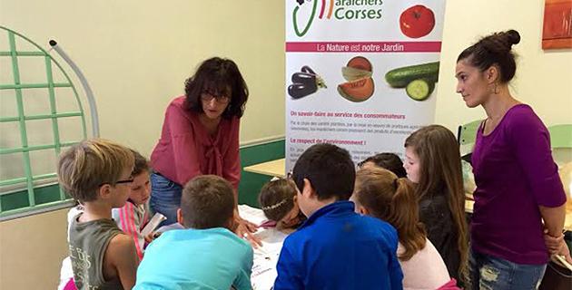 Les JA Corse-du-Sud à l'école de Bonifacio pour des ateliers dégustation et  découverte.