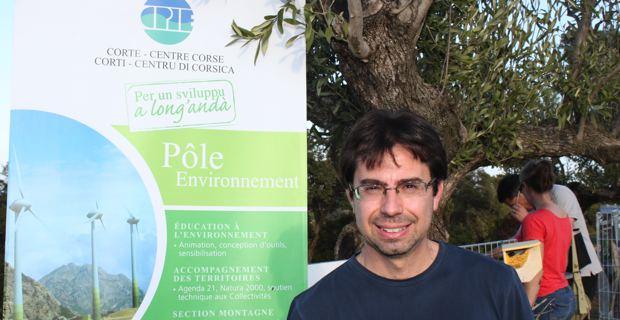 Fabien Arrighi, directeur du CPIE Corte-Centre Corse-A Rinascita.