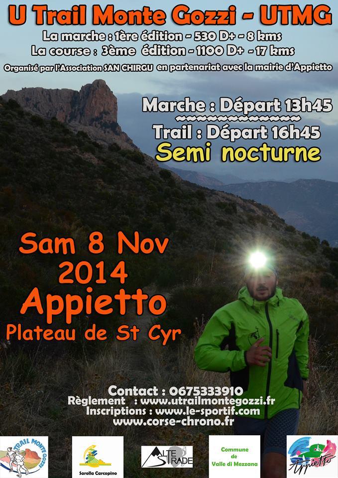Appietto : La troisième édition du trail UTMG le 8 Novembre