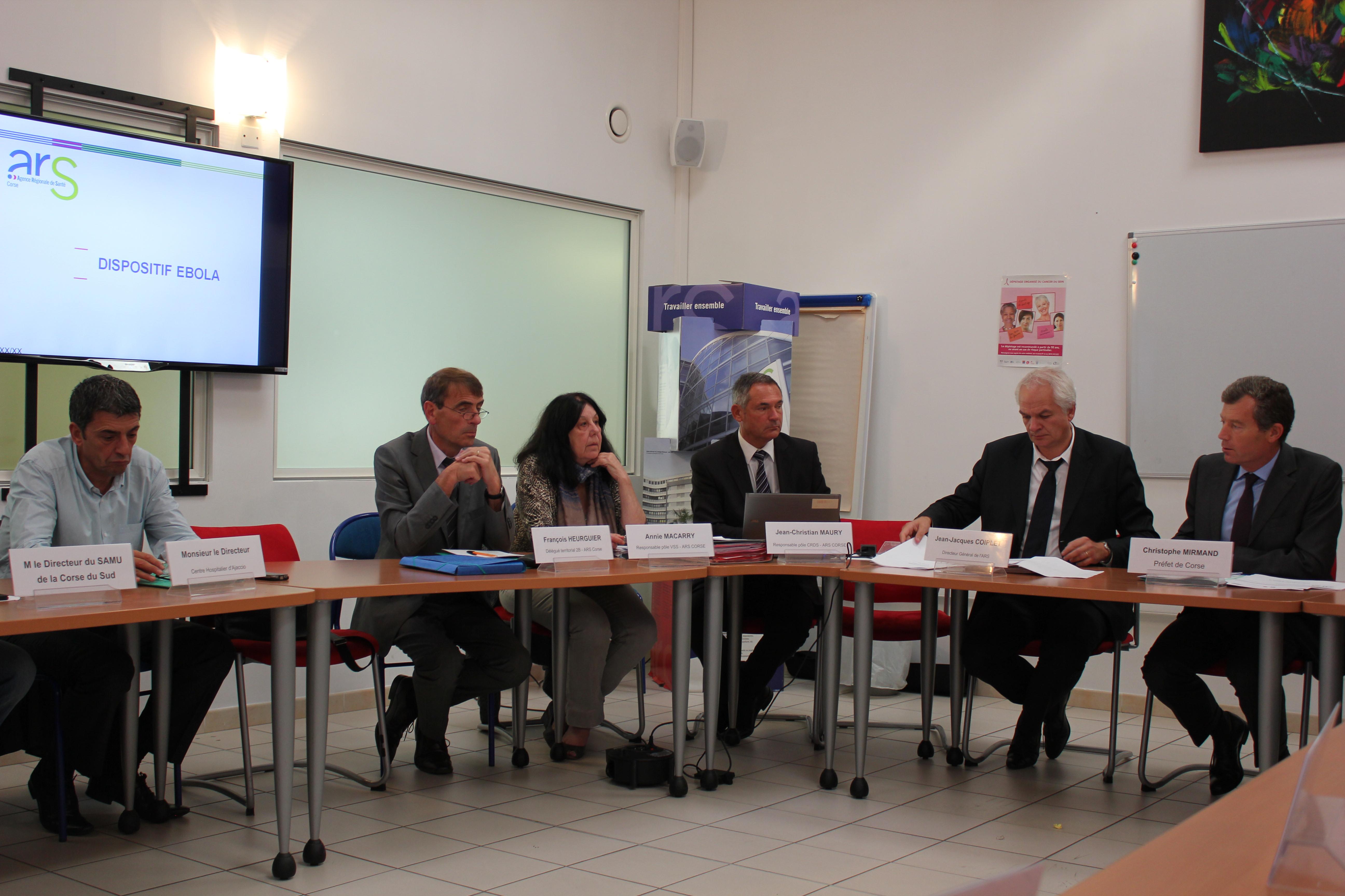 ARS : Face au risque Ebola, pas d'inquiétude imminente à avoir en Corse