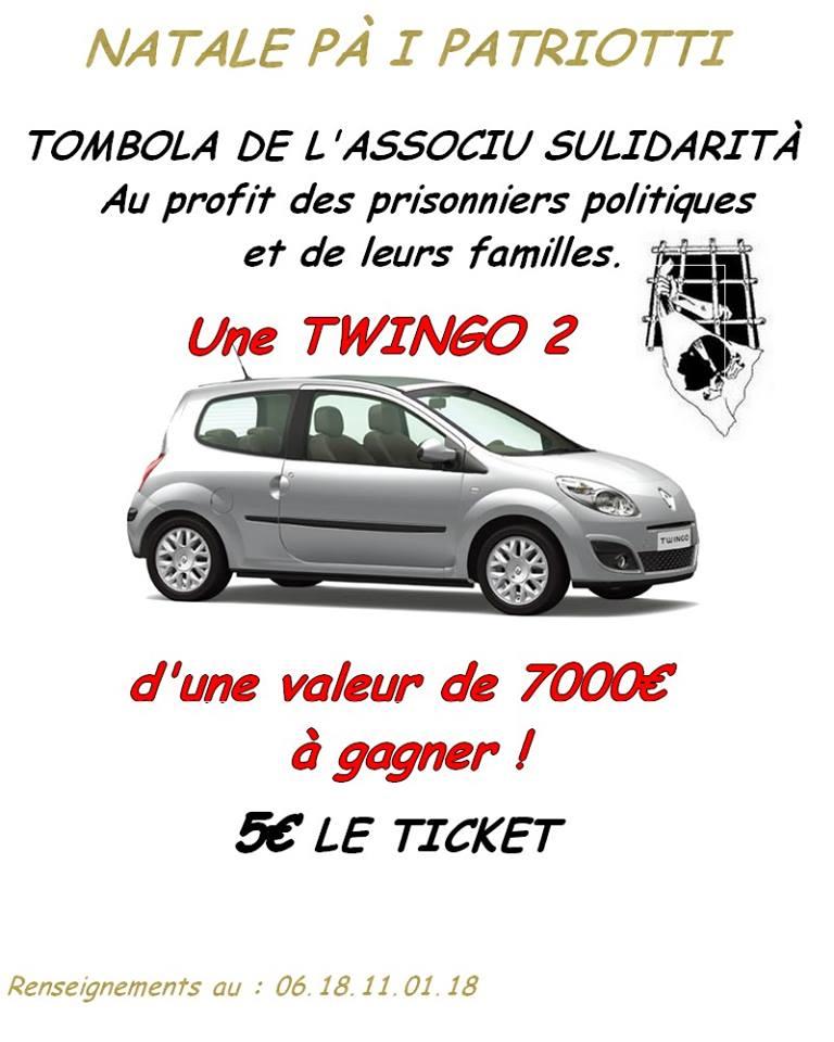 Tombola de l'Associu Solidarita: Les billets sont en vente