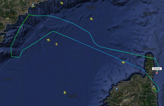 L'aéroport de Nice fermé en raison d'une tempête : Le vol Bastia-Nice fait demi-tour et les Nice-Calvi-Nice annulés
