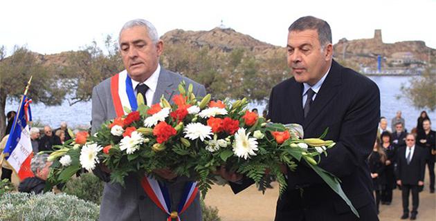 L'Ile-Rousse : Commémoration de l'Armistice et remise de drapeau de l'ANACR