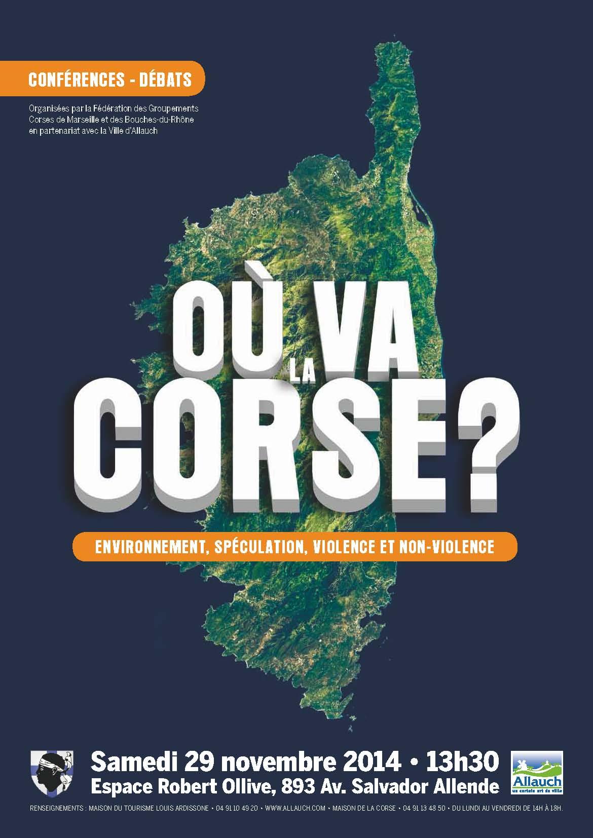 """Environnement, spéculation, violence et non-violence : """"Où va la Corse ?"""", conférence-débat à Allauch"""