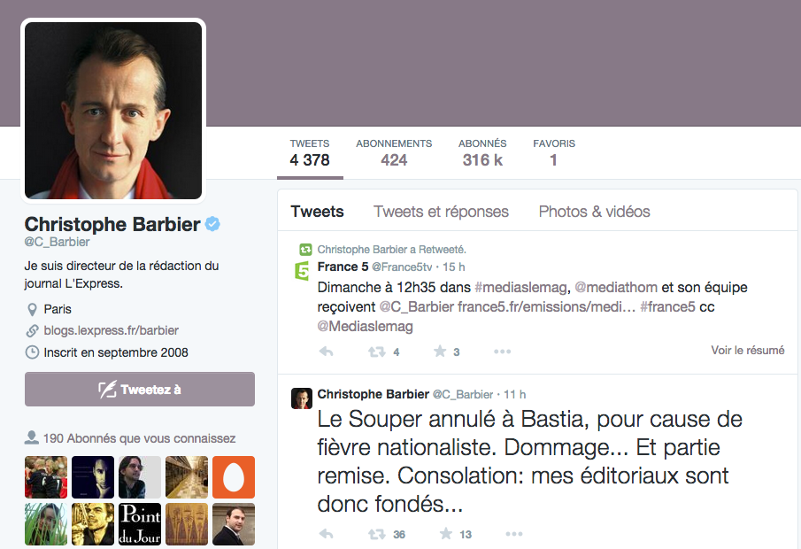 """Christophe Barbier : """"Mes éditoriaux sont donc fondés…"""""""
