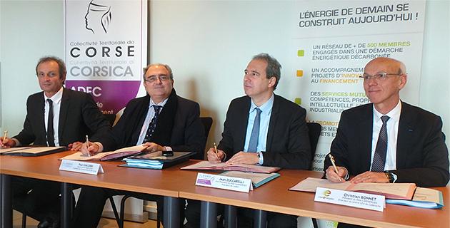 Alain Rousseau, Paul Giacobbi, Jean Zuccarelli et Christian Bonnet