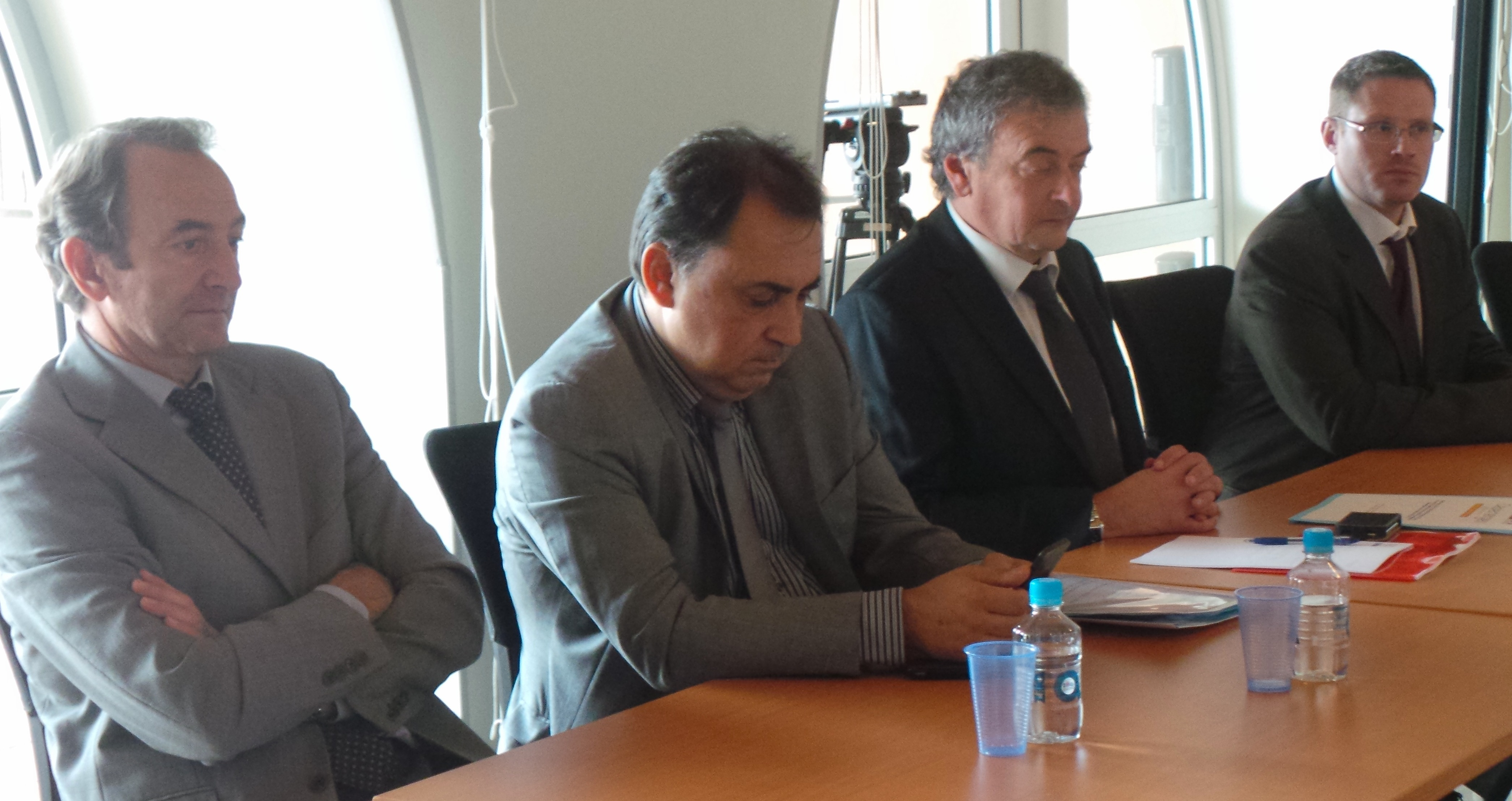 Les membres du bureau de Capenergies autour de Jacques-Thierry Monti, délégué régional Paca pour EDF