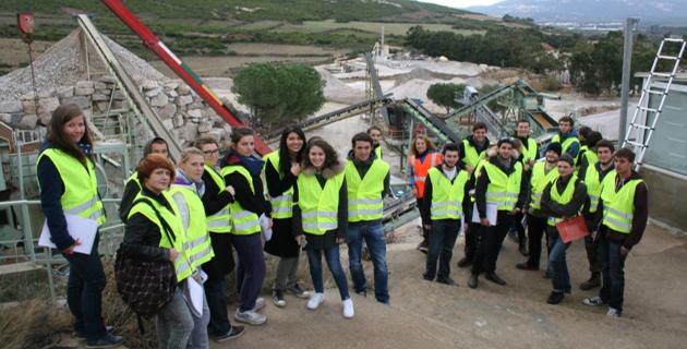 Des étudiants de l'Université de Corte visitent la Sablière de Balagne