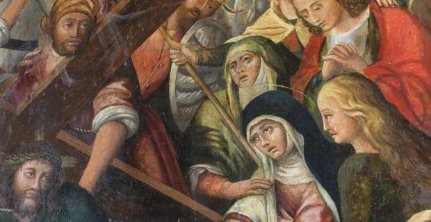 Le tableau « La montée au calvaire », conservé dans la très belle église de l'Immaculée Conception, rue Napoléon à Bastia.