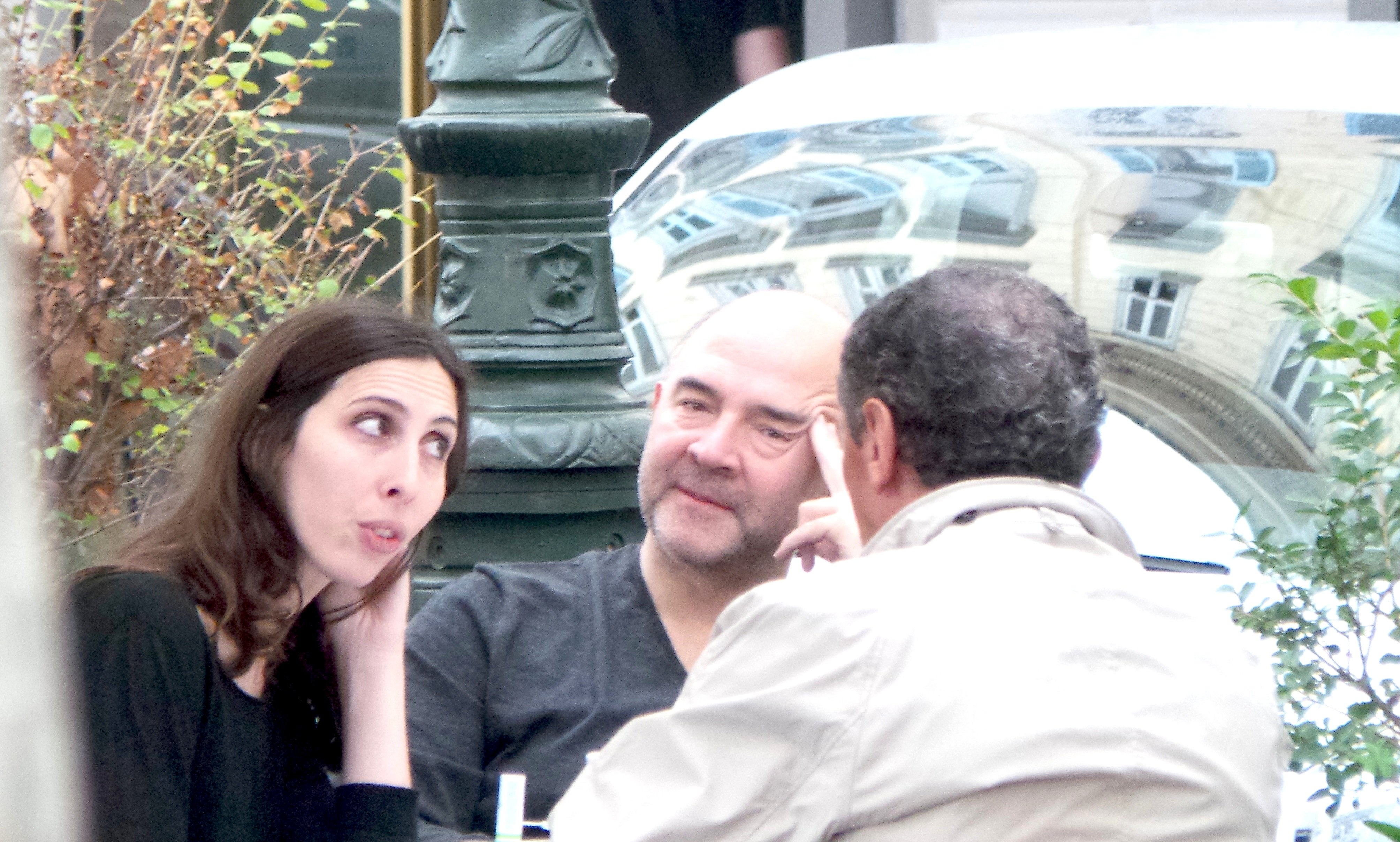 Pierre Moscovici : Un café à Bastia